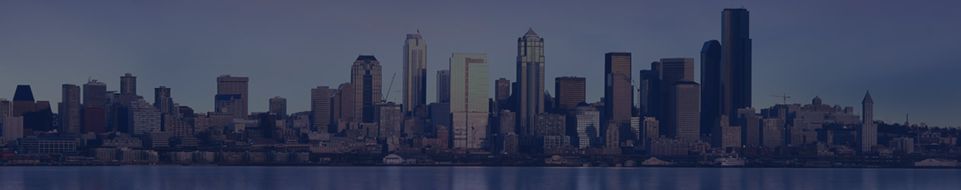 Panoramic photo of Seattle Washington, space needle and city skyline.