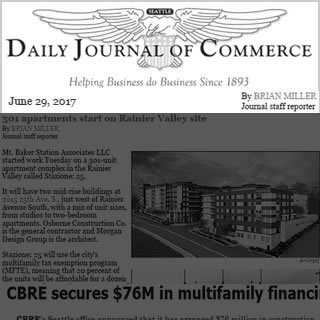 Daily Journal of Commerce news cover image June 29, 2017. Article written BRIAN MILLER Journal staff reporter.
