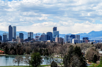 EB-5 Regional Center in Colorado. Photo of downtown Denver, Colorado.