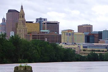 EB-5 Regional Center in Connecticut. Photo of downtown Hartford, Connecticut.