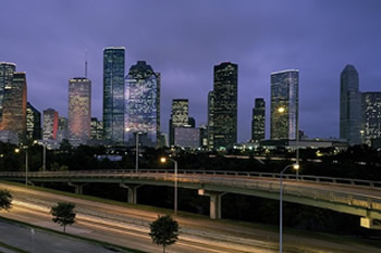 EB-5 Regional Center in Texas. Photo of downtown Houston, Texas.